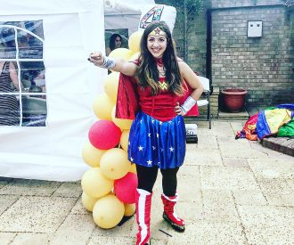 Book superhero party entertainer